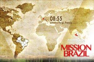 Mappa del viaggio verso il Brasile